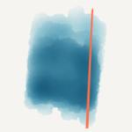 Metalicky modro-oranžový